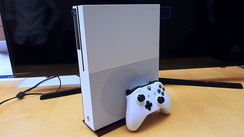 Xbox One S, with its new controller.
