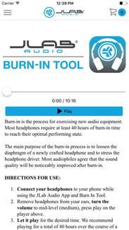 Jlab Audio Burn in